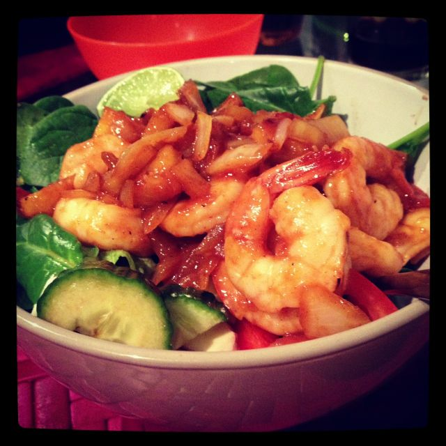 paleo sweet and sour prawns