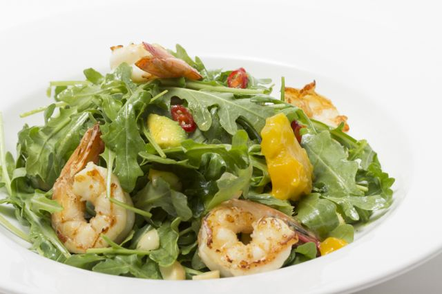 small_Mango avo macadamia salad with prawns