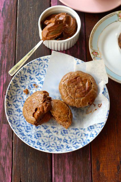 grain free gluten free hot cross bun spiced muffins