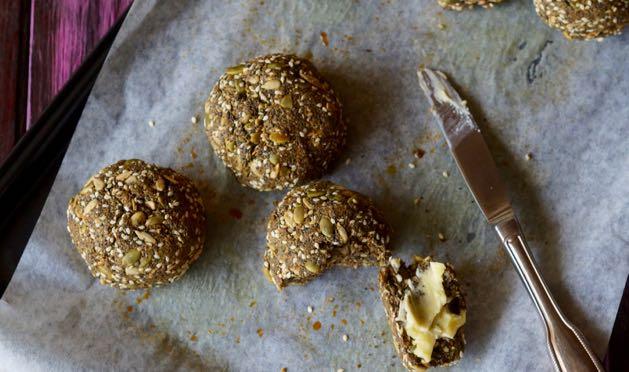 crunchy paleo bread rolls_feature