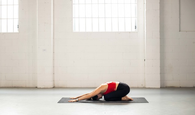 Childs Pose. A yoga pose to help reduce inflammation