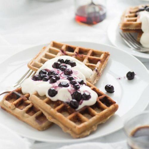 Vanilla Berry Waffles